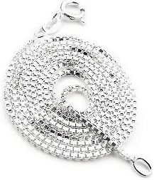Sterling Silver Sweet 16 Necklace Antiqued Finish 7//8 inch 16-30 inch 0.8mm Box Chain