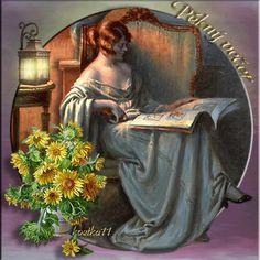 Krásný večer « Rubrika   Blog u Květky Night, Painting, Gifs, Quotes, Art, Blog, Qoutes, Craft Art, Dating