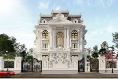 The classical exterior design style is timeless and never goes out of style. If you always dreamed about some unique and beautiful home, with an amazing Plans Architecture, Classic Architecture, Landscape Architecture, Architecture Interiors, House Landscape, Sustainable Architecture, House Outside Design, House Front Design, Narrow House Designs