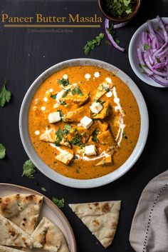 Paneer Butter Masala is one of the most popular North Indian Paneer recipes and is available in most Indian restaurants world wide. This dish is made of soft paneer pieces soaked in a rich… Indian Paneer Recipes, North Indian Recipes, Indian Food Recipes, Gourmet Recipes, Vegetarian Recipes, Cooking Recipes, Healthy Recipes, Ethnic Recipes, Curry Recipes