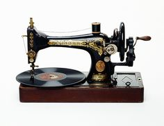 Vintage Singer Sewing machine turned into a record player