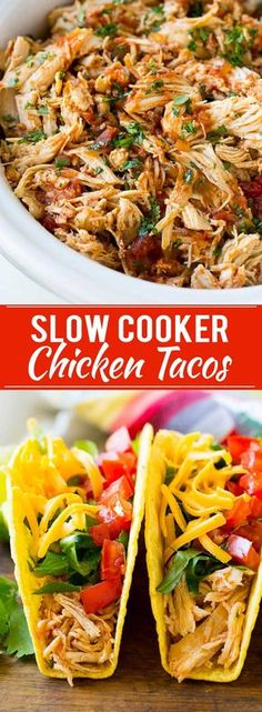 Frugal Food Items - How To Prepare Dinner And Luxuriate In Delightful Meals Without Having Shelling Out A Fortune Slow Cooker Chicken Tacos Recipe Shredded Chicken Tacos Crispy Chicken Tacos Slow Cooker Shredded Chicken, Slow Cooker Chicken Tacos, Chicken Taco Recipes, Crock Pot Tacos, Shredded Chicken Recipes, Mexican Food Recipes, Chicken Cooker, Fiesta Chicken Crockpot, Mexican Chicken Tacos