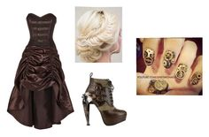"""""""steampunk suzie formal"""" by creepypasta0c ❤ liked on Polyvore"""