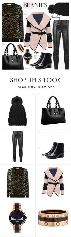 """Beanie Style - dresslily 15"" by cly88 ❤ liked on Polyvore featuring Eugenia Kim, Faith Connexion, STELLA McCARTNEY, Fendi and Cartier"