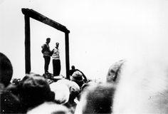 Zhitomir, Ukraine, The public hanging of two Jewish judges, Wolf Kieper and Moshe Kagan, 07/08/1941.