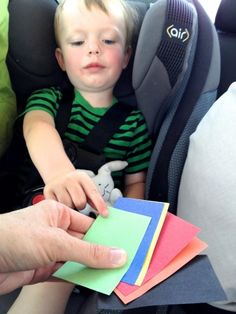 Tickets for toys on road trips. I like this concept. It feels a little less like bribery :) #kids #roadtrip