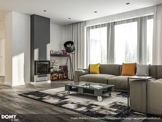 Aksamit 4 projekt domu - Jesteśmy AUTOREM - DOMY w Stylu I Am Awesome, House Plans, Couch, Living Room, Interior Design, Nice, Furniture, Home Decor, Gallery