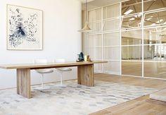 Balance + Calm +White Steel Frame Windows | Design by Rob of Robert Mills Architects | One Hot Yoga & Pilates Sydney | Location Sydney Australia