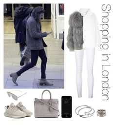 """Shopping in London"" by thetrendpear-eleanor ❤ liked on Polyvore featuring Frame, Vince, Chloé, adidas Originals, Yves Saint Laurent, Cartier and Bottega Veneta"
