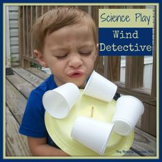 Scientists use an instrument called an                anemometer  to tell how fast the                wind is blowing.  The device we built...