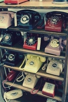 old dial phones...for those who remember them