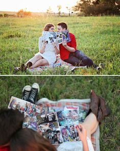 Ashlee & Kevin's Comic Book Engagement Shoot - Photo Source: Rachel Ebel Photography
