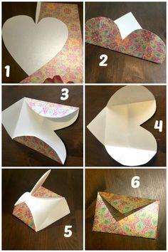 DIY Folded Paper Envelope Tutorial....
