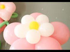 decoracion con globos FLOR DE 5 PETALOS SENCILLA. - YouTube