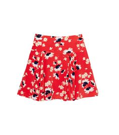 Juicy CoutureFloral & Feather Print Skirt ($125)