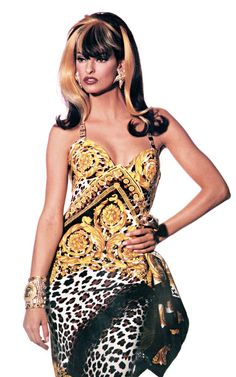 GIANNI VERSACE Spring Summer 1992 featuring LINDA EVANGELISTA photographed by IRVING PENN