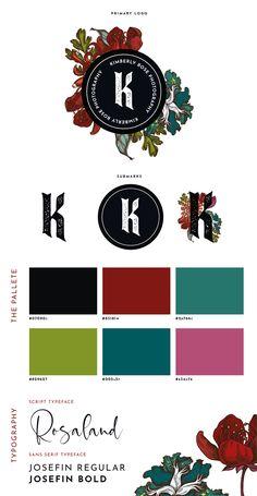 K Rose, Script Typeface, Branding Design, Grunge, Graphic Design, Floral, Flowers, Scripts, Corporate Design