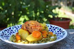 La cocina de mi abuelo: Receta: Gallina de Mos guisada con verduras