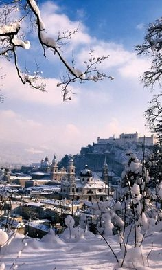 Salzburg's Old Town in Winter, Austria