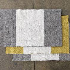 Stripe Bath Mat Westelm Yellow And Grey Bathroom Bathrooms