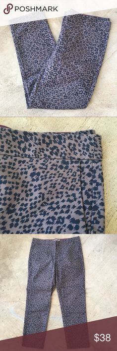"Boden Leopard Print Ankle Pants Size 6R Great pants in VGUC! They're very lightly worn and have no real signs of wear. Slightly cropped ankle length. Super cute for the office. Ask any questions! 💕 approx measurements: 16"" waist,  9"" rise, 25"" inseam. Boden Pants Trousers"