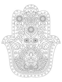 Hamsa Coloring Art Coloring Poster at Art.com