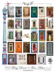 Urban Fairies , Fairy Doors of Ann Arbor Poster