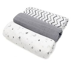 Perfect for Baby Shower Gift Swaddle Blanket,Stroller Cover Unisex Design for Baby Girl or Boy by Leo Star Super Soft Muslin Swaddle Baby Blankets,100/% Cotton 47x47 Covering Cloth