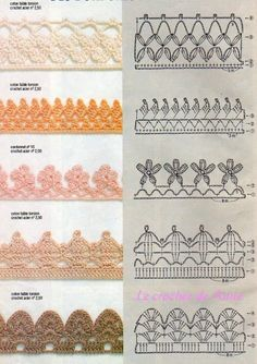 borders finiton 11 Lots of borders or finish crochet ideas. It's in french mais je parle Francias donc ce n'est pas une probleme. Great visuals and you can translate the page if needed.