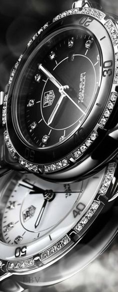 Tag Heuer♥✤ Lady Steel & Ceramic Automatic | LBV