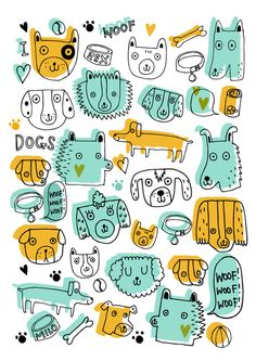 simple and cute dogs illustration | Sophie Crichton