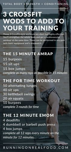 3 Simple CrossFit Workouts Anyone Can Try &; Running on Real Food 3 Simple CrossFit Workouts Anyone Can Try &; Running on Real Food Johanna Fischer fischerjohanna Crossfit 3 CrossFit-Style Workouts for […] fitness body Crossfit Workouts At Home, Fitness Workouts, Fitness Motivation, Fitness Diet, Fitness Humor, Cardio Workouts, Fitness Weightloss, Crossfit Challenge, Tabata