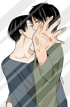 Levi/Eren Can't look!