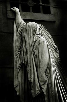 Image by Polstar* ~ similar image found on the cover of Dead Can Dance's ~ Within the Realm of the Dying Sun - sculpture for Francois Raspail's tomb in Pere Lachaise cemetery. (Mine again !!!)