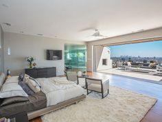 moderne schlafzimmer einrichtungsideen designer einrichten weiss grau zugang terrasse