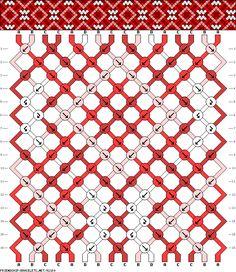 Muster # 92180, Streicher: 16 Zeilen: 16 Farben: 4