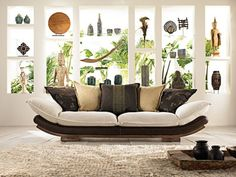 "oriental sofa:                                                     the sofa ""Junco"" belongs to the spring collection 2008 :( of ""La Maison Coloniale"" (Spain)"