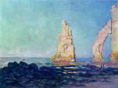 During the 1880s, Monet rediscovered the Normandy coast and made repeated visits there to draw by the sea.