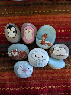 Animals rock rock painting ideas easy, painting for kids, diy painting, art for Rock Painting Patterns, Rock Painting Ideas Easy, Rock Painting Designs, Painting For Kids, Diy Painting, Paint Ideas, Pebble Painting, Pebble Art, Stone Painting