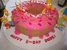 what will Dylan's next birthday party theme be? since his very birthday he has ha. Birthday For Him, 11th Birthday, First Birthday Parties, Birthday Party Themes, First Birthdays, Birthday Cake, Simpsons Cake, Simpsons Party, The Simpsons