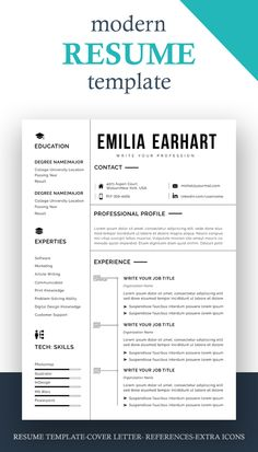 Resume design template modern | Resume template word free download | professional resume template microsoft word design#resume #coverLeter #cvDesign #simpleResumeTemplate #UsLetterResume