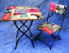 Vintage table & chair