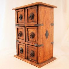 Arts and Crafts Movement Handmade Wooden Spice Cabinet from Antik Avenue on Ruby Lane