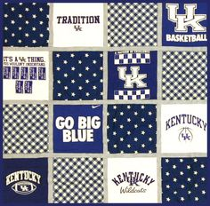 T-shirt quilts - what a great idea for all those old college t-shirts! www.campusquilt.com
