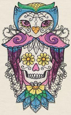 Bella Muerte - Lechuza design (UT11420) from UrbanThreads.com