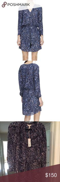 Rebecca Taylor long sleeve block print dress long sleeve block print dress (blue/black, 0) Rebecca Taylor Dresses Long Sleeve