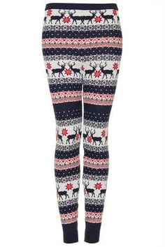 reindeer knitted leggings look so warm and comfy! Leggings Sale, Knit Leggings, Cotton Leggings, Blue Leggings, Tight Leggings, Cotton Pants, Legging Outfits, Diva Fashion, Dressing Rooms