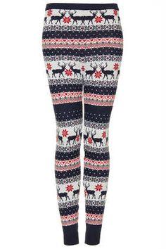 reindeer knitted leggings #DearTopshop