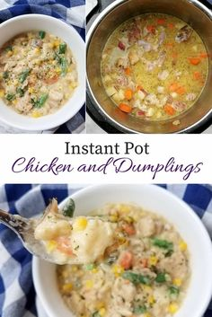 A deliciously easy Instant Pot chicken and dumplings recipe is ready in half the time in the pressure cooker. This meal makes the perfect weeknight dinner.