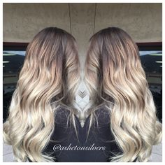 Ombre , balayage , blonde balayage , stretched root , color melt , beach hair by Asheton silvers